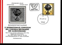 AUTRICHE  FDC 1977 Coronelli Globe - FDC