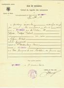 Suisse // Schweiz // Switzerland //  Acte De Naissance - Documents Historiques
