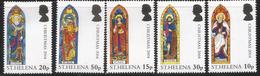 2004 St. Helena Christmas Complete Set Of 5  MNH - Saint Helena Island