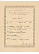 Suisse // Schweiz // Switzerland //  Certificat De Baptême - Documents Historiques