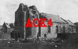 62 NOYELLES SOUS BELLONNE Eglise Ruines Arras 1917 1918 Nordfrankreich IR 95 Feldpost - Francia