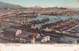 ITALIA - RICORDO DI GENOVA - PANORAMA DA VILLA ROSAZZA 1902 - Genova
