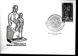 AUTRICHE  FDC 1977 Cathedrale Saint Etienne De Vienne Statues