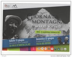 Fre235 Promocard Promozione Giornata Montagna Courmayeur Valle Aosta, K2 Mountain Expedition Alpinisme Alpinismo Rifugio - Manifestazioni