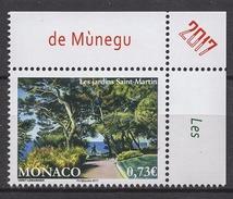 MONACO 2017  - Y.T. N° 3092( LES JARDINS SAINT-MARTIN ) - NEUF ** - Monaco
