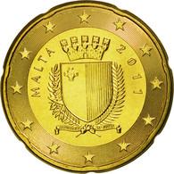 Malte, 20 Euro Cent, 2011, SPL, Laiton, KM:129 - Malta