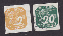 Bohemia And Moravia, Scott #P1, P7, Mint Hinged/Used, Carrier Pigeon, Issued 1939