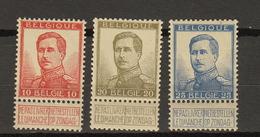 Belgie - Belgique Ocb Nr :  123 - 125  ** MNH  (zie  Scan) Pellens