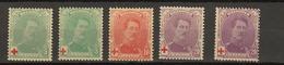 Belgie - Belgique Ocb Nr :  129 - 131 + 129a 131a  ** MNH  (zie  Scan) Croix Rouge