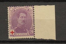 Belgie - Belgique Ocb Nr :  131a  ** MNH  (zie  Scan) Croix Rouge