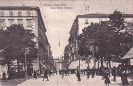 ITALIA - ANCONA, PIAZZA ROMA - CORSO VITTORIO EMANUELE 1924 ANIMATA - Ancona