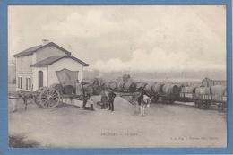 17 Charente Maritime Archiac Gare Train Tonneaux Charette Ed Prevost Saintes Cachet 1906 - France