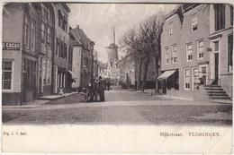 Slijkstraat Vlissingen - Geanimeerd - Zicht Op Molen - Uitg. L.T. Dert. - Vlissingen