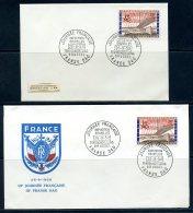 BE  Marcophilie  --  Obl. Mécanique / Machine   --  EXPO 58  --  3ème Journée Française / France  --  2 Plis