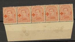 Belgie - Belgique Ocb Nr :  150 ROUILLE Sans Gomme Charniere  (zie  Scan) Croix Rouge - 1918 Croix-Rouge