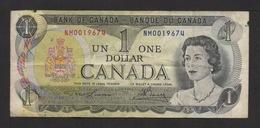 Banque Du Canada . 1 DOLLAR  .1973 . N° NM0019674 . - Canada