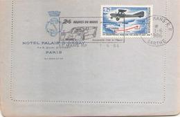 FRANCE ENVELOPPE A EN TETE DU 1 JUIN 1986 LE MANS HOTEL PALAIS D ORSAY - France