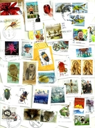 """AUSTRALIA LOT3 MIXTURE OF50+USED STAMPS SOME 2014/17INC.NEW """"PAINTING""""""""QEII"""",WWI, $10""""FLOWER"""" ETC.READ DESCRIPTION!!"""