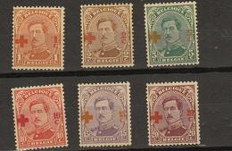 Belgie - Belgique Ocb Nr :  150 - 155 * MH Rouille Legerement  (zie  Scan) Croix Rouge - 1918 Croix-Rouge