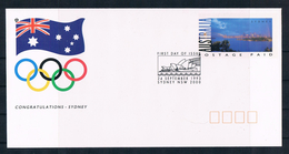 (86) Australien 1993 Olympia 2000 Ganzsachenbrief