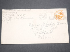 ETATS UNIS - Entier Postal Militaire En 1945 Pour Northfield - L 7588