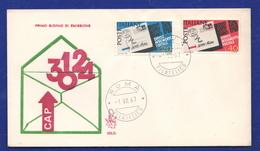 FDC Venetia 1967 CAP Codice Avviamento Postale - 6. 1946-.. Repubblica