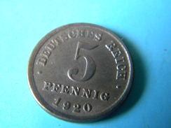 ALLEMAGNE - 5 PFENNIG 1920.F. - 5 Pfennig