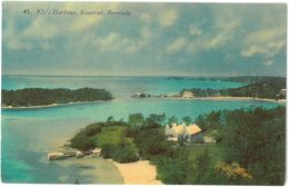 CPA BERMUDA - Ely's Harbour , Somerset - Published By A.J. GORHAM N°45 - Bermudes
