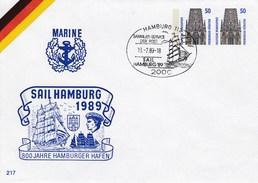 PU 300/12 Marine - Sail Hamburg 1989 - 800 Jahre Hamburger Hafen, Hamburg 11 - [7] Federal Republic