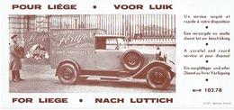 BUVARD Publicitaire (année 30) STRAPS à LIEGE - Fleuriste - Illustrée D'une Ancêtre Automobile