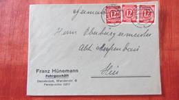 Orts-Brief Mit 12 Pfg Ziffern Rot In MeF Aus Osnabrück Vom 18.7.46 Auf Firmenumschlag Knr: 919 (3) - American,British And Russian Zone