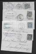 Lot De 10 Lettres Avec Type Sage - 1877-1920: Semi Modern Period