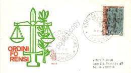 FDC Venetia - Italia 1974 - Centenario Istituzione Ordine Forense - VG - Roma - Timbres