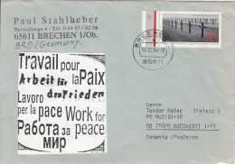 60410- GERMAN WARGRAVES ANNIVERSARY, WW1 FALLENS, HISTORY, WORK FOR PEACE, SPECIAL COVER, 1994, GERMANY