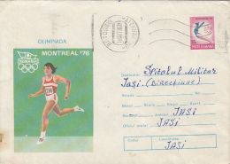 60429- ATHLETICS, GYMNASTICS, MONTREAL'76 OLYMPIC GAMES, COVER STATIONERY, 1977, ROMANIA