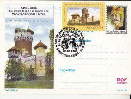 60454- VLAD THE IMPALER, DRACULA, CASTLE, POSTCARD STATIONERY, 2006, ROMANIA