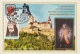 60458- VLAD THE IMPALER, DRACULA, CASTLE, LEGENDS, MAXIMUM CARD, 2009, ROMANIA