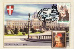 60459- VLAD THE IMPALER, DRACULA, CASTLE, LEGENDS, MAXIMUM CARD, 2009, ROMANIA