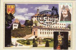 60461- VLAD THE IMPALER, DRACULA, CASTLE, LEGENDS, MAXIMUM CARD, 2009, ROMANIA
