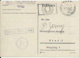 AK 0683  Postkarte ( Frei Durch Ablösung Reich )  Von Graz An Naturh. Museum , Wien 1942 - 1918-1945 1. Republik