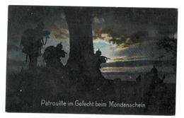 GermanFeldpost WWI 1916  PATROL FIGHTS In MOONLIGHT