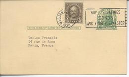 De New York >> Paris  1c Jefferson + Complément 1938