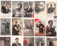 Lot De 44 CPA D' Hommes : Gentleman Homme Gentlemen 1900 - 1930 - Elegance Romantisme - Hommes