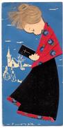 Carte Mode Kaart Kleding Meisje Met Missaal - Habits & Linge D'époque