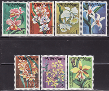 VIETNAM 1984 FLOWERS,ORCHIDS  SET  USED