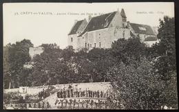 2 CPA-CREPY EN VALOIS-OISE-60-ANCIEN CHATEAU DES DUCS DE VALOIS-REMPARTS-LA POTERNE-GENESTIN EDIT- - Crepy En Valois
