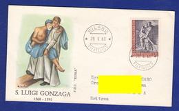 FDC Roma 1968 S. Luigi Gonzaga 25 Lire - 1946-.. République