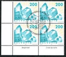 LA SERIE 2xBLOCS DE 4  OBLITERES 2002 C/DES TIMBRES SUISSES Nr:1065/1066. Y&TELLIER Nr:1732/1733. MICHEL Nr:1808/1809.