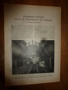 1917 LSELV :Fourgons-viviers Pour Transport Du Poisson(de Frédéric Chaumenton);Téléphonie Militaire(Isidor Recoulier) - Téléphonie