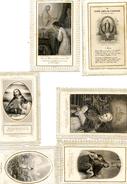 Lot De 6 Images Pieuses - Canivets- - Images Religieuses